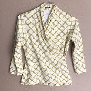 J McLaughlin mid sleeve blouse